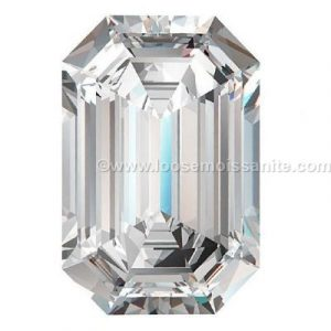 4 carat off white color emerald shape loose moissanite