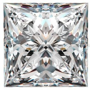 3.50 carat off white color princess cut loose moissanite