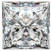 4 carat off white color princess cut loose moissanite