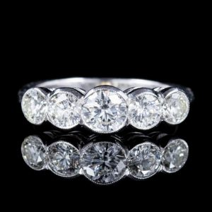 0.60 Ct Female Moissanite Wedding Band