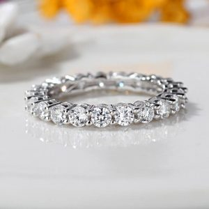 0.70 ct Full Eternity Wedding Band For Women
