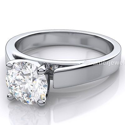 1 Ct Sterling Silver Wedding Moissanite Ring