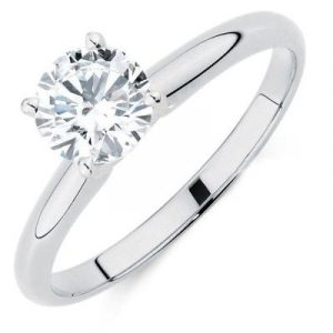 1 ct moissanite solitaire ring