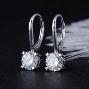 2 ct moissanite drop earrings