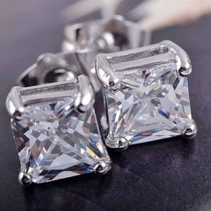2 Ct Moissanite Halo Stud Earrings
