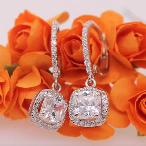 2.80 ct moissanite long earrings