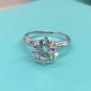 2ct moissanite solitaire engagement ring