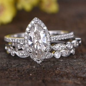 marquise cut classic wedding ring