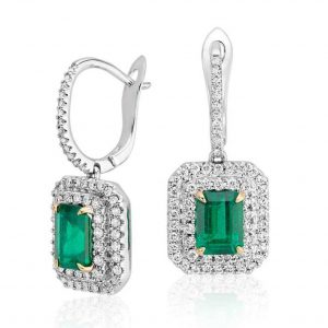 Glorious Green Moissanite Earring 2 to 5ct