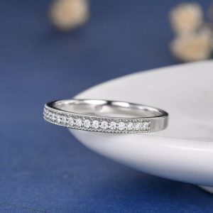 Moissanite Channel Set Band