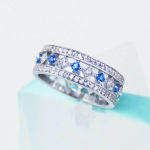 moissanite channel set eternity band
